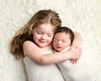 Newborn with Big Sister Photograph