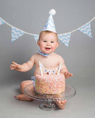Baby Boy Cake Smash Setup